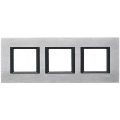 """MGU68.006.7A1 Рамка 3-постова """"сріблястий алюміній"""" Unica Class"""