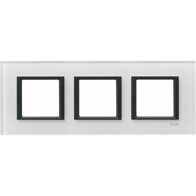 "Рамка 3-постова ""біле скло"" Unica Class MGU68.006.7C2"