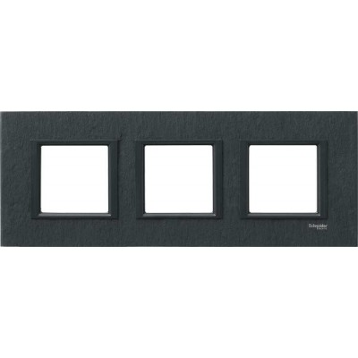 MGU68.006.7Z1 Рамка 3-постовая черный камень Unica Class