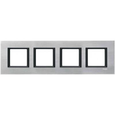"""Рамка 4-постова """"сріблястий алюміній"""" Unica Class MGU68.008.7A1"""