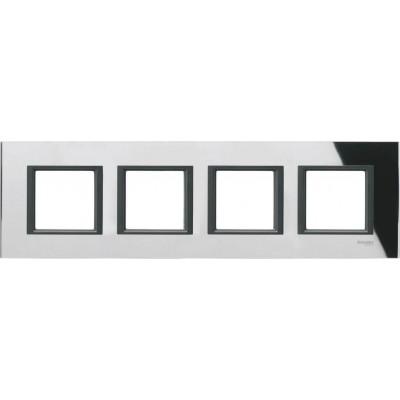 Рамка 4-постовая Unica Class - черное зеркало - MGU68.008.7C1
