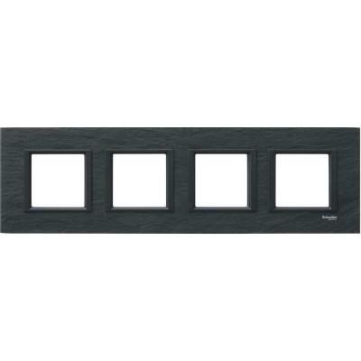Рамка 4-постовая черный камень Unica Class MGU68.008.7Z1