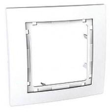 Наборная рамка 1-постовая белая Unica Colors MGU4.002.18