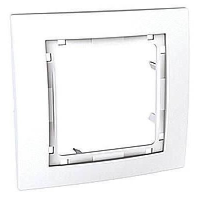 MGU4.002.18 Наборная рамка 1-постовая белая Unica Colors