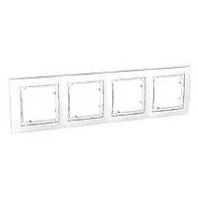 MGU4.008.18 Набірна рамка 4-постова біла Unica Colors