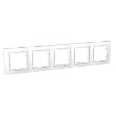 MGU4.010.18 Набірна рамка 5-постова біла Unica Colors