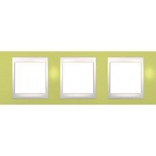 Рамка трехместная Unica Plus. Цвет Зелёное яблоко MGU6.006.563