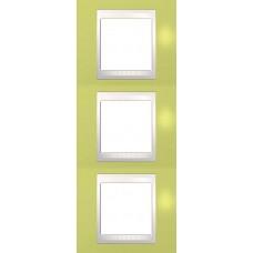 Рамка трехместная Unica Plus. Цвет Зелёное яблоко MGU6.006V.563