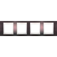 Рамка четырехместная Unica Plus. Цвет Терракотовый MGU6.008.551