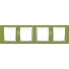 Рамка четырехместная Unica Plus. Цвет Фисташковый MGU6.008.566