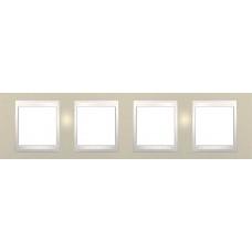 Рамка четырехместная Unica Plus. Цвет Песчаный MGU6.008.567