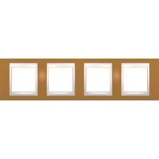 Рамка четырехместная Unica Plus. Цвет Оранжевый MGU6.008.569