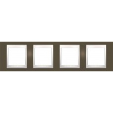 Рамка четырехместная Unica Plus. Цвет Какао MGU6.008.571