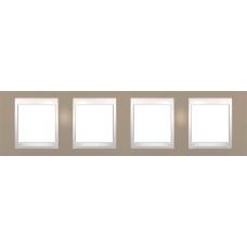 Рамка четырехместная Unica Plus. Цвет Коричневый MGU6.008.574