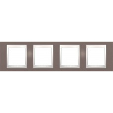 Рамка четырехместная Unica Plus. Цвет Лиловый MGU6.008.576