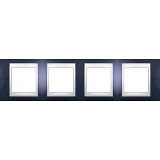 Рамка четырехместная Unica Plus. Цвет Индиго MGU6.008.842