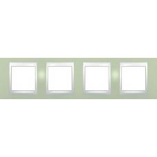 Рамка четырехместная Unica Plus. Цвет Морская волна MGU6.008.870