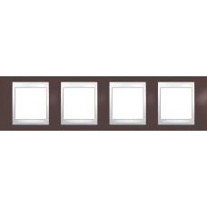 Рамка четырехместная Unica Plus. Цвет Гранат MGU6.008.872