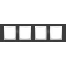 Рамка четырехместная Unica Plus. Цвет Серо-зеленый MGU6.008.877