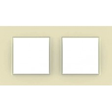 Рамка двухместная Unica Quadro. Цвет Камень MGU2.704.16