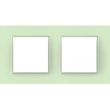 Рамка двухместная Unica Quadro. Цвет Стекло MGU2.704.17