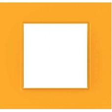 Рамка одноместная Unica Quadro. Цвет Cytrus MGU4.702.29