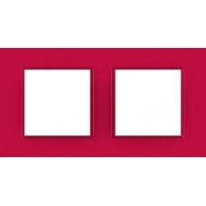 Рамка двухместная Unica Quadro. Цвет Lipstick MGU4.704.27
