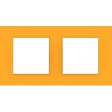 Рамка двухместная Unica Quadro. Цвет Cytrus MGU4.704.29