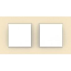 Рамка двухместная Unica Quadro. Цвет Серо-жемчужный MGU4.704.35