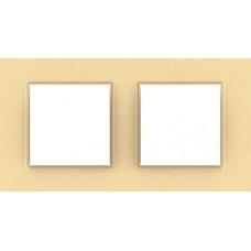 Рамка двухместная Unica Quadro. Цвет Бронзово-жемчужный MGU4.704.36