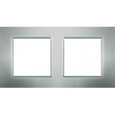 Рамка двухместная Unica Quadro. Цвет Серебристый MGU6.704.55