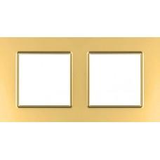Рамка двухместная Unica Quadro. Цвет Медный MGU6.704.56