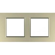 Рамка двухместная Unica Quadro. Цвет Титановый MGU6.704.57