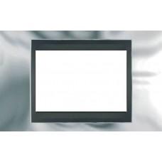 Рамка 3-модульная Итальянский дизайн Unica Top. Цвет Блестящий хром/Графит MGU66.103.210