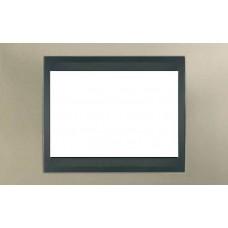 Рамка 3-модульная Итальянский дизайн Unica Top. Цвет Матовый никель/Графит MGU66.103.239