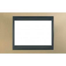 Рамка 3-модульная Итальянский дизайн Unica Top. Цвет Оникс медный/Графит MGU66.103.296