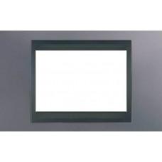 Рамка 3-модульная Итальянский дизайн Unica Top. Цвет Голубой берилл/Графит MGU66.103.298