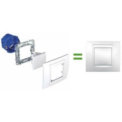 Вимикач з LED індикатором стану 2-кнопковий Unica MGU5.530.18
