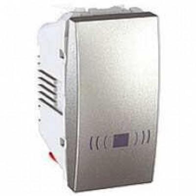 MGU3.106.30C Одноклавішний кнопковий вимикач, тип «дзвінок» Unica 10А