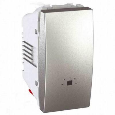 MGU3.106.30L Одноклавішний кнопковий вимикач, символ `світло` Unica 10А