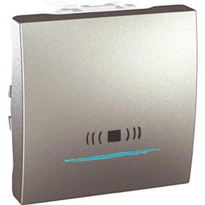 MGU3.206.30CN Одноклавішний кнопковий вимикач з підсвічуванням, тип «дзвінок» Unica 10А
