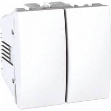 Выключатель двухклавишный 10А серия Unica MGU3.211.18