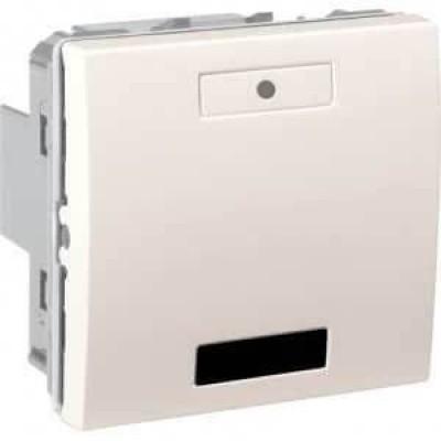 2-кнопковий вимикач з LED індикатором та ІЧ приймачем Unica MGU5.532.25