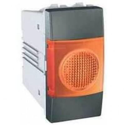 MGU3.775.12A Індикатор помаранчевий 10А 1 модуль серія Unica