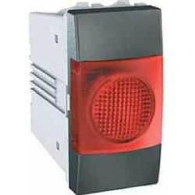 MGU3.775.12R Індикатор червоний 10А 1 модуль серія Unica