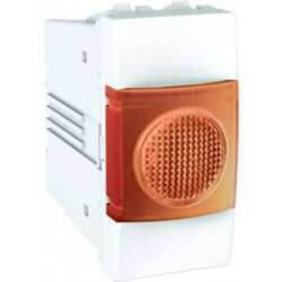 MGU3.775.18A Індикатор помаранчевий 10А 1 модуль серія Unica
