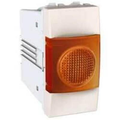 MGU3.775.25A Індикатор помаранчевий 10А 1 модуль серія Unica