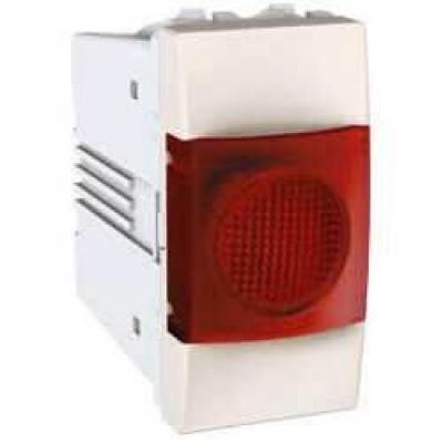 MGU3.775.25R Индикатор красный 10А 1 модуль серия Unica