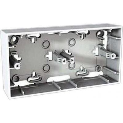 Монтажная коробка для открытого монтажа двухместная Unica MGU8.004.18