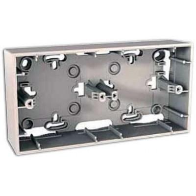Монтажная коробка для открытого монтажа двухместная Unica MGU8.004.25
